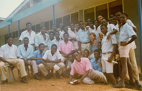 A class photo with Arbic and Ansong (third from the right in the back)