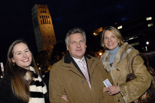 Polish Studies Program director Genevieve Zubrzycki with former Polish President Aleksander Kwasniewski and program manager Marysia Ostafin