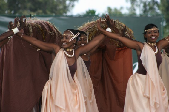 Traditional dancers in Rwanda.