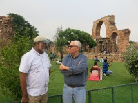 Martin Philbert, dean of the School of Public Health, and Matthew Boulton, associated dean of Global Public Health, in Delhi, India.