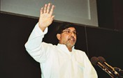 Kailash Satyarthi gives Wallenberg Lecture in 2002.