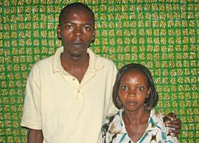 Genocide survivor Ufiteyezu Manzi David with his cousin Nyirahategekimana Marie Josie.