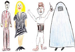 Drawings by study participants.