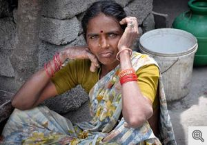 Photo of woman in India, where breast cancer is a growing problem.
