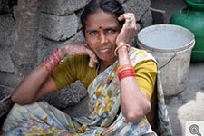 Photo of woman in rural India.