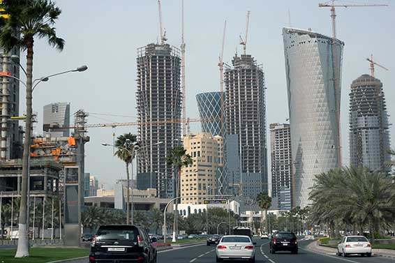 Rapid development in Qatar's capital, Doha. Photo courtesy of Amjra via Wikimedia Commons.
