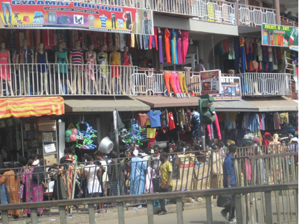 The Kajetia Marketplace in Kumasi, Ghana.