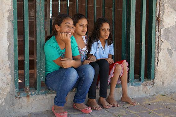 Bedouin children in the village of Lakia in teh Negev region.