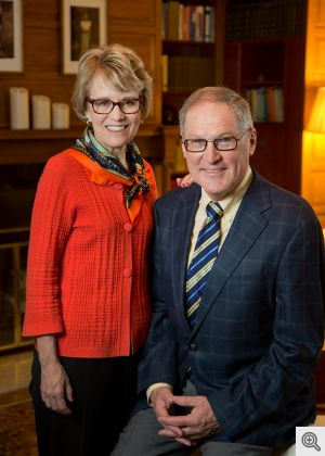 President Mary Sue Coleman and Dr. Kenneth Coleman.