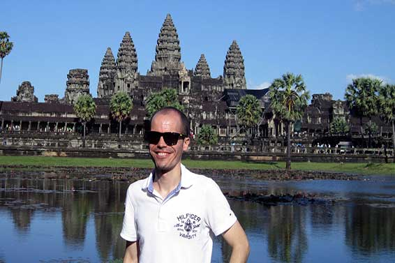 Jordi Prat Truca, a graduate student at the Ford School of  Public Policy, spent last summer in Cambodia doing an internship sponsored by the William Davidson Institute at the University of Michigan.
