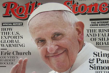 Pope Francis appears on front cover of Rolling Stone on Feb. 13, 2014.