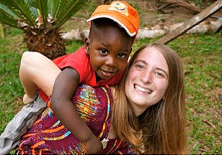 Peace Corps volunteer and U-M alumna Marissa Falk in Cameroon. Image courtesy Marissa Falk.