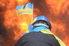 Protester in Kiev. (Credit: Mstyslav Chemov/UnFrame)
