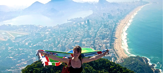 Michigan Law student Liz Bundy in Rio.