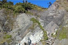 The Alpine Fault in New Zealand.