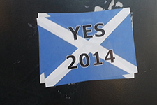 A sticker for the Yes campaign. Credit: Wikimedia Commons
