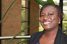 Mariam Boakye-Gyasi researches antimalarial drugs.