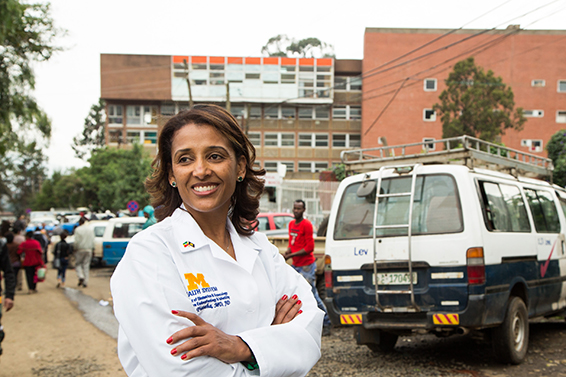 Senait Fisseha, director of U-M's new Center for International Reproductive Health Training