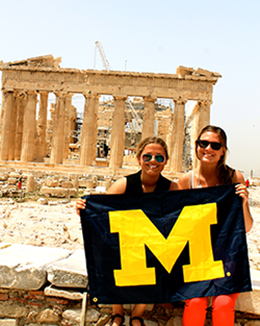Students at the Acropolis in Athens, Greece. (Credit: Sara Becker)