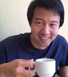 David enjoys a cup of coffee at PRODECOOP in Esteli, Nicaragua.