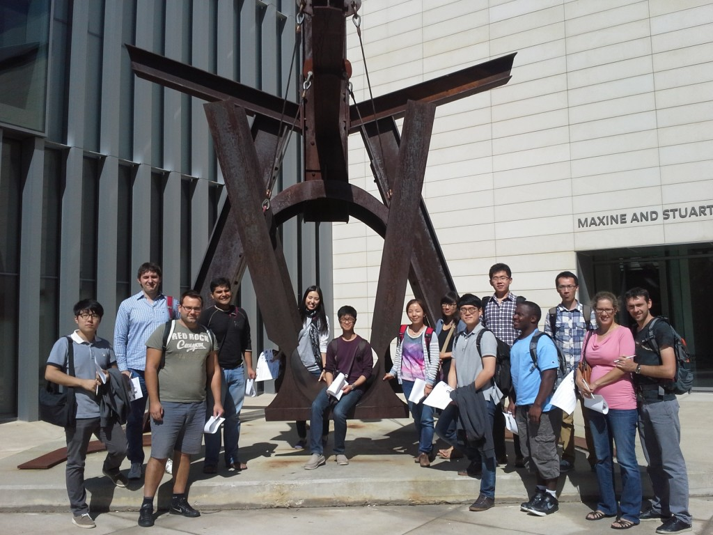 A group of new international students tour the U-M Museum of Art (Photo by Kate Zheng)