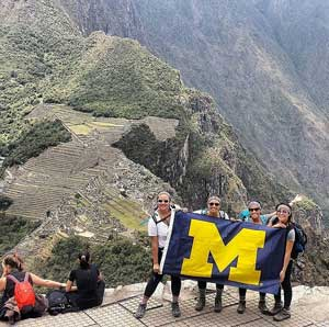 It took Hai Vu four days in the remote mountains to reach the top of Waynapiccu, but the beautiful view was certainly worth it! Thanks for bringing Michigan along on your journey!