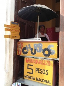 A churro stand tests the market in Cuba. (Credit: Ruth Behar)