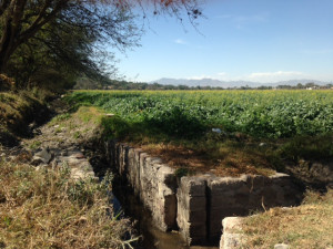 An irrigation canal carries untreated waste water to fields in Mezquital Valley.