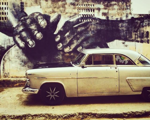 A car in Havana, Cuba.