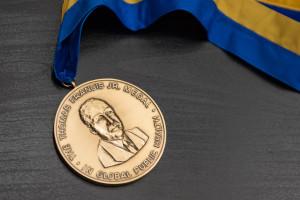 Thomas Francis, Jr. Medal given to Sir Fazle Hasan Abed at Robertson Auditorium, AA, MI