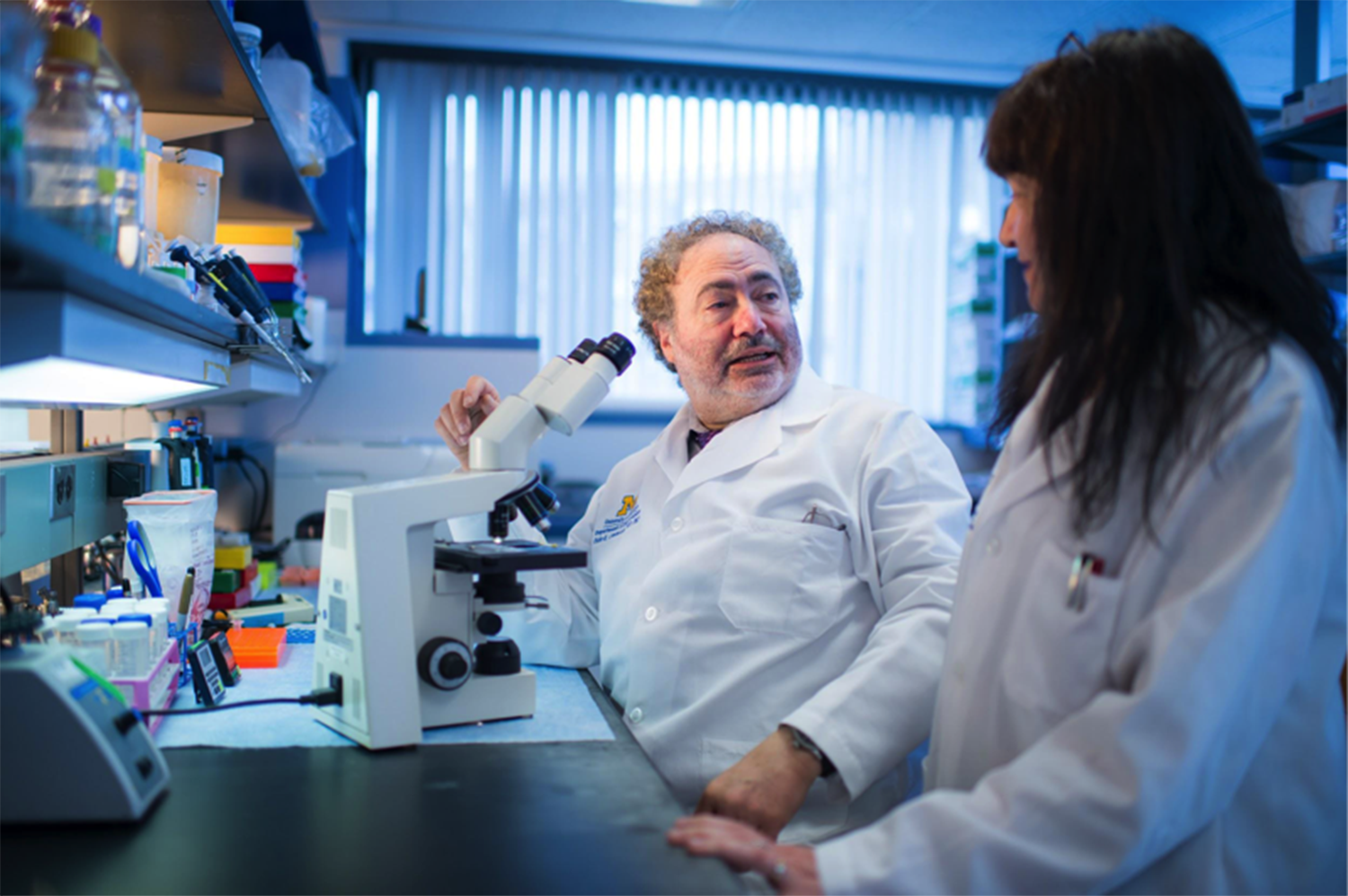 María Castro and her husband Pedro Lowenstein at their lab at University of Michigan. Photo: Austin Thomason, Michigan Photography.
