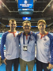 Coach Mike Bottom and swimmers Sean Ryan and Connor Jaeger will be in Rio.