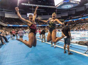 U-M athletes during Swim Trials 16, earlier this month.