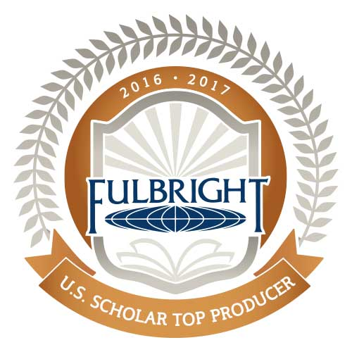 Fulbright logo top scholar producer