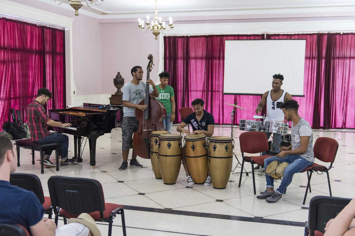 A visit to the Universidad De Les Artes included a performance by Cuban students followed by UM students performing and then a combination of musicians from both countries
