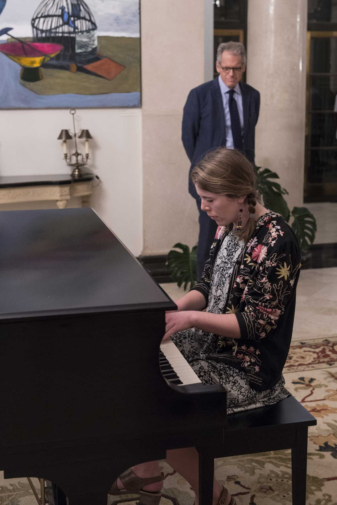 Molly Radosevich performs for Ambassador DeLaurentis