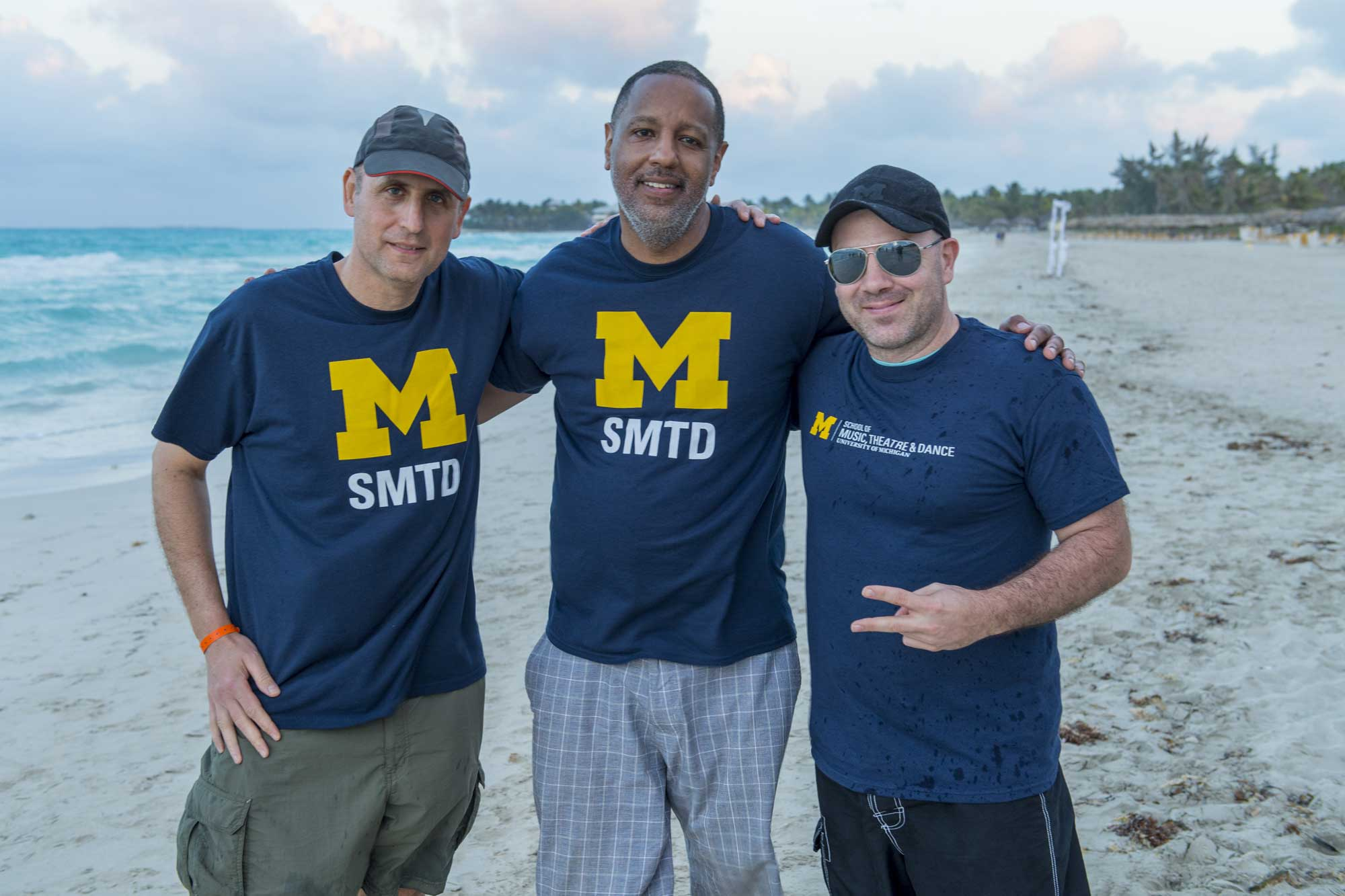 Faculty leaders Michael Gould, Robert Hurst and Jonathan Ovalle in Varadero