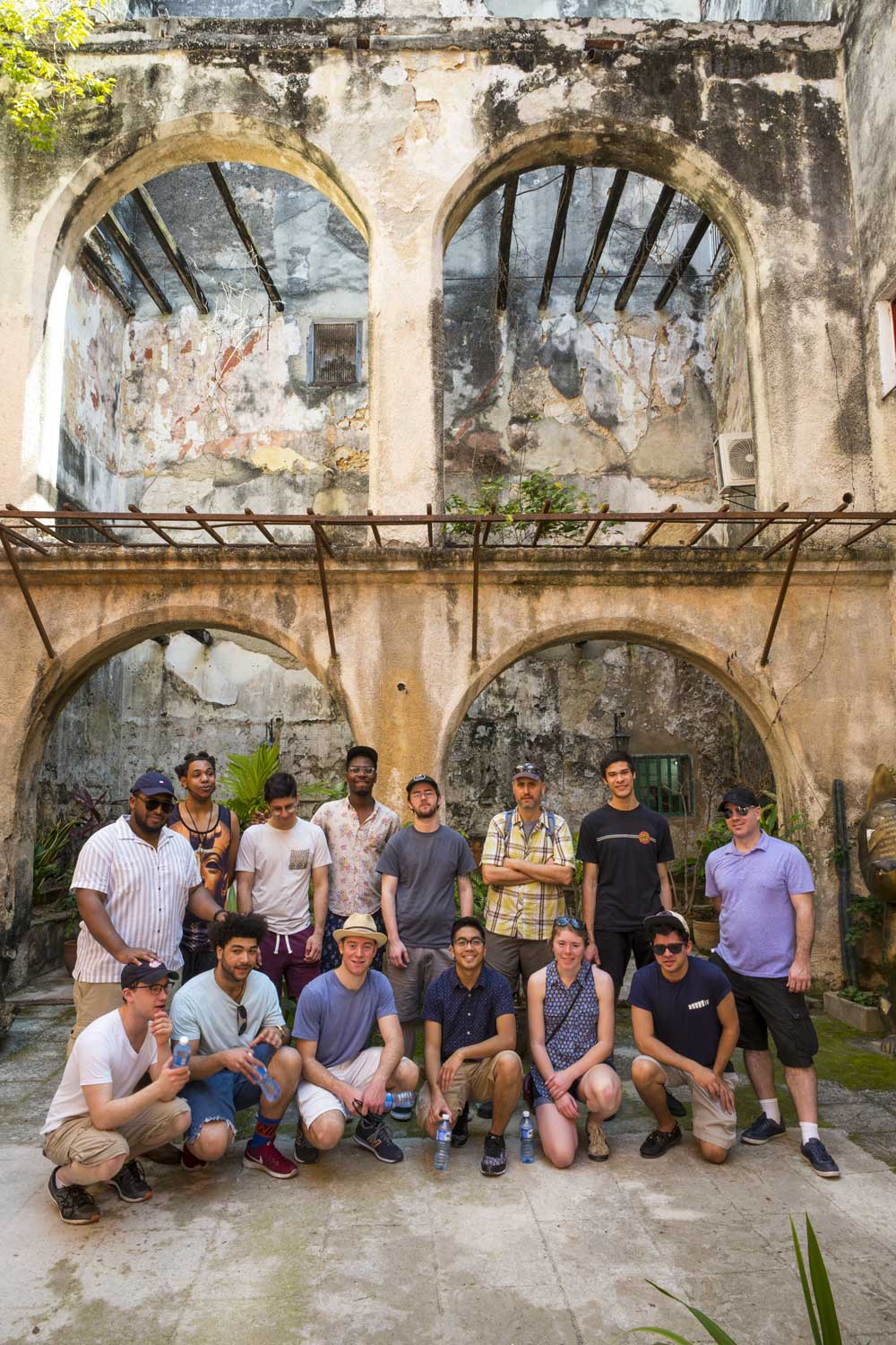 Students and faculty in Cuba