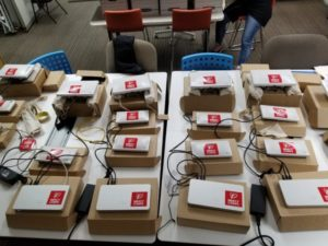 Network access points and routers for deployment in Puerto Rico (photo by John Traylor).