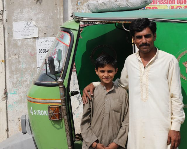 Pakistani father and son.
