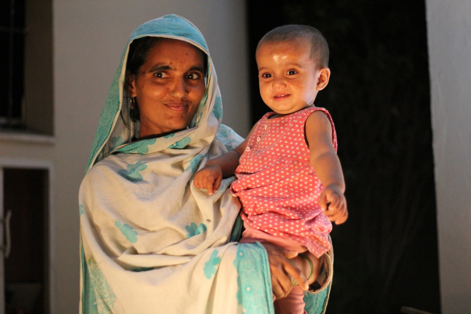 Pakistani mother and child.