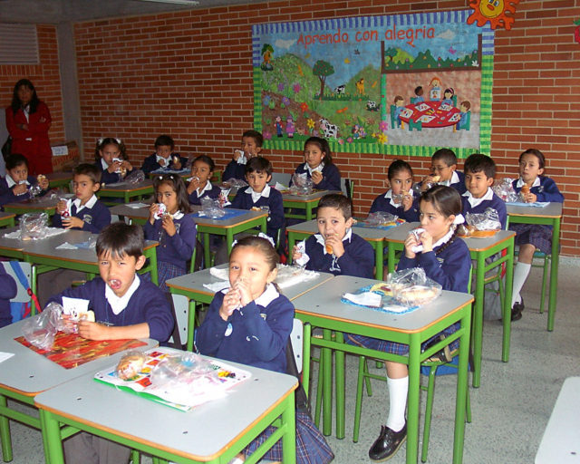 Students from a public school in Colombia.