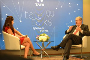 """At Bombay House, Schlissel participated in TATA talks, a Ted Talks style conversation over a wide range of topics with Tata chief economist Rupa Purushothaman. """"I am in India here to see what India is prioritizing in education in both near term and long term future,"""" Schlissel said. """"The fact that we are both democracies and there is a big english speaking population makes it an ideal partner for us."""""""