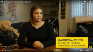 "Bonus video: Gabriela Miles was among 10 students from the School of Nursing who spent a month in Copenhagen earlier this year shadowing midwives. ""This experience taught me how I can help empower women as a nurse,"" she said."
