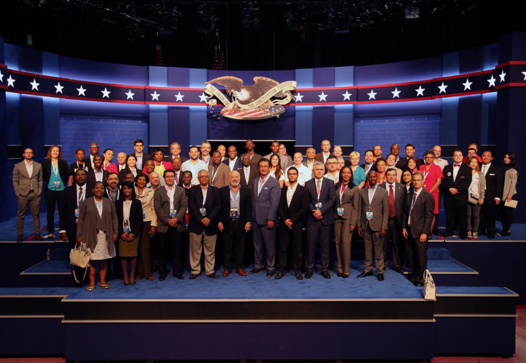 Commission on Presidential Debates and the National Democratic Institute International Delegation in Las Vegas 2016. Image courtesy: The Commission on Presidential Debates