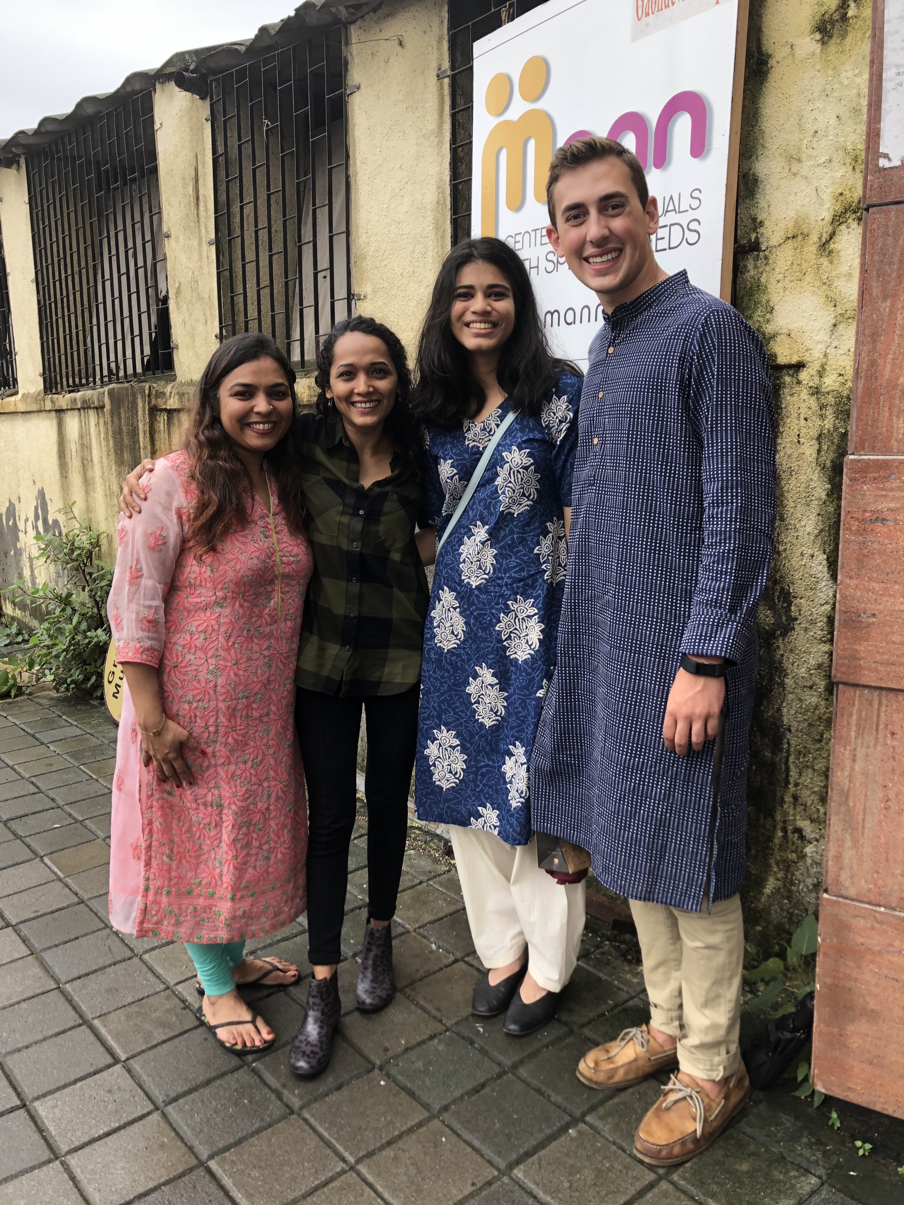 Project C members outside Mann NGO in Mumbai. Sivaraman pictured second to the right.