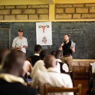 U-M Medical School faculty and Pharmacy students teach sex ed to students at Bishop Lawi Imathiu Secondary School in Meru, Kenya.