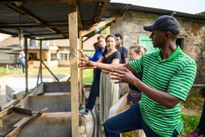 U-M Engineering students learn about how the coffee bean is processed after harvest.