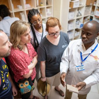 U-M Pharmacy students tour Consolata Mission Hospital in Nkubu, Kenya.
