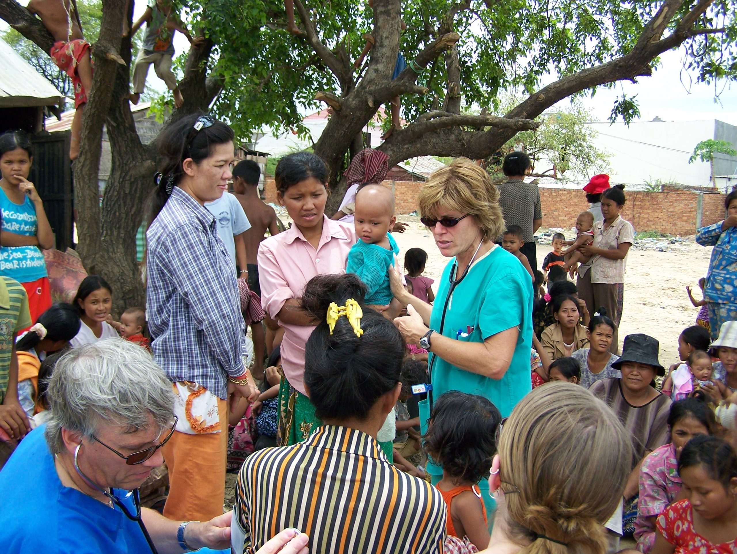 Maureen Tippen works with the community in a village in Cambodia. Image credit: Nicole Rochon